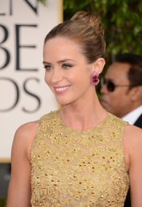 Get The Look: Emily Blunt At The 2013 Golden Globes